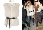 In Cheryl Cole's Closet - MiH Belted Shearling Gilet