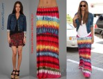 In Ciara's Closet - Current/Elliot Denim Jacket & Torn by Ronny Kobo Riley Maxi Skirt