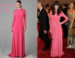 In Michelle Monaghan's Closet - Derek Lam Peplum Back Pink Gown