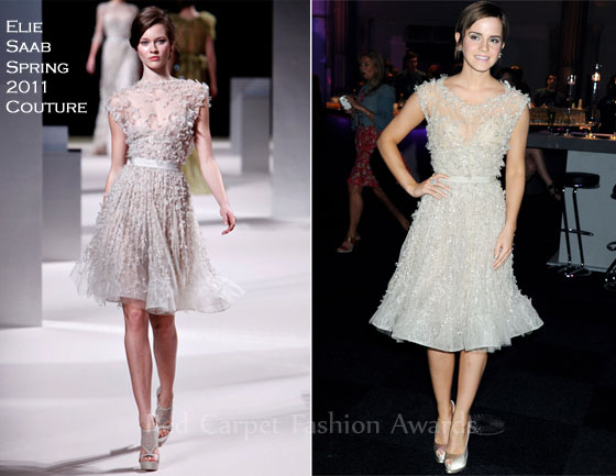 Emma Watson Harry Potter And The Deathly Hallows Part 2 Premiere Dress Emma Watson In Elie Sa...