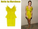In Emma Watson's Closet - Notte by Marchesa Ruffled Dress