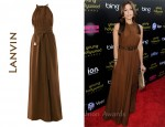 In Eva Mendes' Closet - Lanvin Silk Dress