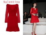 In Fan Bing Bing's Closet - Valentino Ruffled Red Dress