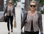 Sidewalk Style: Hilary Duff's Isabel Marant Jacket & Lanvin Bag