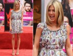 Jennifer Aniston In Prada - Hand and Footprint Ceremony