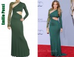 In Jennifer Lopez' Closet - Emilio Pucci Embroidered Sleeve Gown