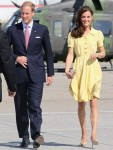 Catherine, Duchess of Cambridge In Jenny Packham - Calgary Airport