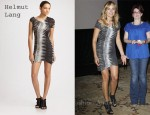 In Malin Akerman's Closet - Helmut Lang Frequency Print Mini Dress