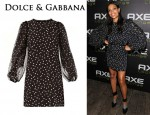 In Rosario Dawson's Closet - Dolce & Gabbana Chiffon Balloon Sleeve Dress