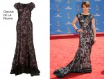 In Tina Fey's Closet - Oscar de la Renta Layered Evening Dress