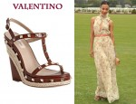 In Zoe Saldana's Closet - Valentino Studded Wedges