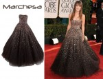 In Olivia Wilde's Closet - Marchesa Strapless Ballgown