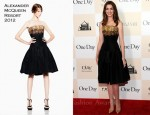 "Anne Hathaway In Alexander McQueen - ""One Day"" New York Premiere"