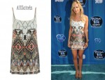 In Ashley Tisdale's Closet - AllSaints Aztec Dress