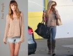 In Ashley Tisdale's Closet - Free People Sahara Star Sweater