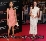Best Dressed Of The Week - Zoe Saldana In Valentino & Anne Hathaway In Alexander McQueen