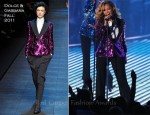 Beyonce Knowles In Dolce & Gabbana - 2011 MTV Video Music Awards Performance