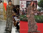 "Bianca Brandolini d'Adda In Giambattista Valli Couture - ""The Ides Of March"" Venice Film Festival Premiere"