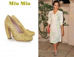 In Camilla Belle's Closet - Miu Miu Glitter Pumps