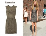 In Cat Deeley's Closet - Lanvin Metallic Bouclé Shift Dress