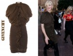 In Cate Blanchett's Closet - Givenchy Charmeuse Ruffle Front Dress