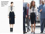 Catherine, Duchess of Cambridge In Alexander McQueen - Birmingham Visit