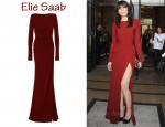In Daisy Lowe's Closet - Elie Saab Padded Shoulder Gown