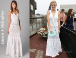 In Brooklyn Decker's Closet - Lacoste + Malandrino The Pointelle Polo Maxi Dress