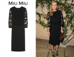In Diane Kruger's Closet - Miu Miu Embellished Open-Back Crepe Dress