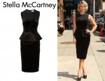 In Dianna Agron's Closet - Stella McCartney Paneled Cotton & Velvet Dress