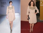 Elisabeth Moss In Alberta Ferretti - Hollywood Foreign Press Association's 2011 Installation Luncheon