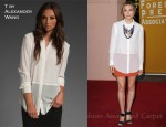 In Elizabeth Olsen's Closet - T by Alexander Wang Shirt