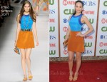 Emmy Rossum In Etro - CBS, The CW And Showtime TCA Party