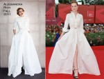 "Evan Rachel Wood In Alessandra Rich - ""The Ides Of March"" Venice Film Festival Premiere"
