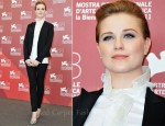 "Evan Rachel Wood In Dolce & Gabbana – ""The Ides Of March"" Venice Film Festival Photocall"
