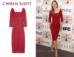 In Nicole Kidman's Closet - L'Wren Scott Red Lace Dress