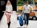 Sidewalk Style - Rachel Bilson's Isabel Marant Sweater, Sigerson Morrison Sandals & Chloé Aurore Leather Bag