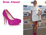 In Jayma Mays' Closet - Brian Atwood Maniac Calf Hair Platform Pumps