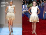 "Kiernan Shipka In Salvatore Ferragamo - ""Glee The 3D Concert Movie"" LA Premiere"