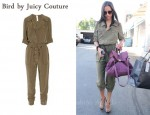 In Zoe Saldana's Closet - Bird by Juicy Couture Silk Crepe de Chine Jumpsuit & See by Chloé Bag
