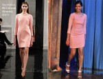 Freida Pinto In Victoria Beckham - Late Night With Jimmy Fallon