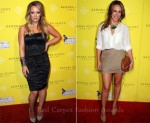 Hilary Duff In Yigal Azrouel & Haylie Duff In Equipment & Alice + Olivia - Kendra Scott Jewelry Beverly Hills Grand Opening