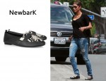 In Halle Berry's Closet - NewbarK Manu Nappa Leather and Calf Hair Shoes