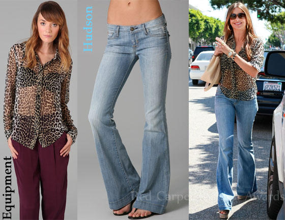 In Sofia Vergara's Closet - Equipment Spotted Hyde Brett Blouse ...