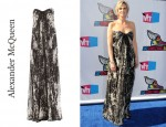In Jane Lynch's Closet - Alexander McQueen Silk Bustier Dress