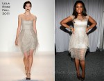 Jennifer Hudson In Lela Rose - 12th Annual Art For Life Benefit