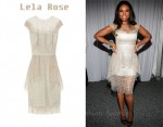 In Jennifer Hudson's Closet - Lela Rose Cotton-Threaded Tulle Dress