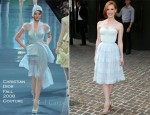 "Jessica Chastain In Christian Dior Couture - ""The Debt"" New York Screening"