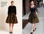 "Julianna Margulies In Carolina Herrera - ""Late Show With David Letterman"""