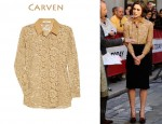 In Keira Knightley's Closet - Carven Cotton Lace Blouse